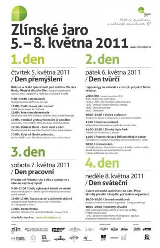 1. ročník, Zlínské jaro 2011: Demokracie je zahrada, o kterou je třeba pečovat