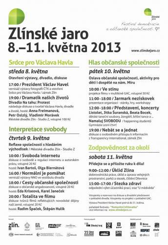 3. ročník, Zlínské jaro 2013: Václav Havel