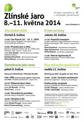 4. ročník, Zlínské jaro 2014: Jan Palach