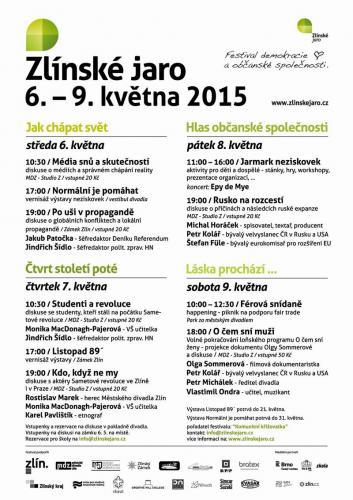 5. ročník, Zlínské jaro 2015: Listopad 89´