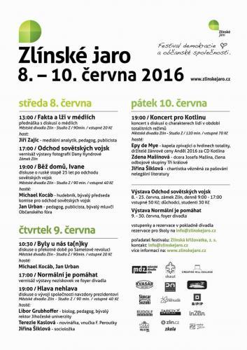 6. ročník, Zlínské jaro 2016: Odchod sovětských vojsk