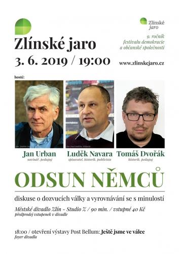 9. ročník, Zlínské jaro 2019: Odsun Němců