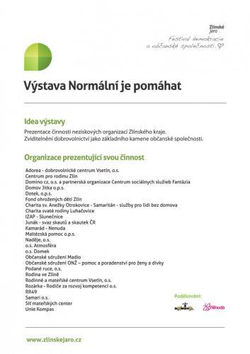 2012: Normální je pomáhat