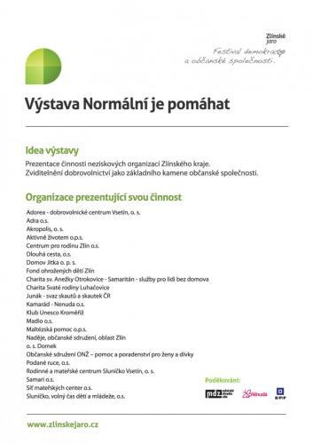 2013: Normální je pomáhat