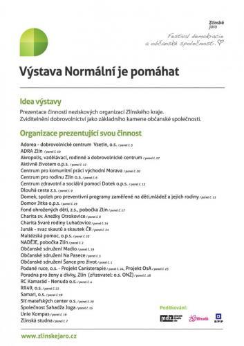2014: Normální je pomáhat
